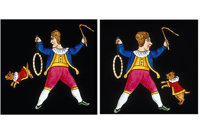 Magic lantern slides from the mid-19th century