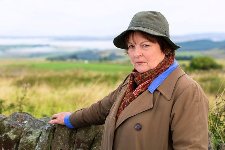 Brenda Blethyn as DCI Vera Stanhope 'wearing the kind of hat not seen since the glory days of All Creatures Great and Small'