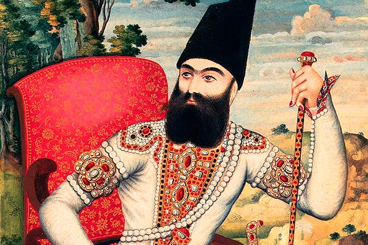 Portrait of Persia's Prince Abbas Mirza, c.1820. From his bailiwick near the Russian border he dispatched educational missions to Europe, sponsored translations of key European works and imported metal casting techniques and the printing press. (Getty images)