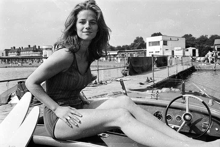 Glory days: Charlotte Rampling at the lido in 1965