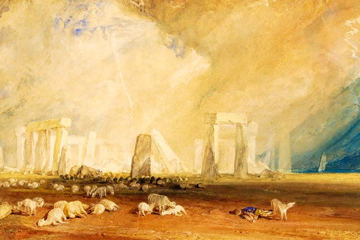 Turner's Stonehenge is strewn with the bodies of sheep and their shepherd, victims of an electrical storm