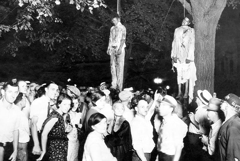 'Black bodies swinging in the southern breeze...' The infamous lynchings in Marion, Indiana, inspired the song 'Strange Fruit' and Laird Hunt's weird novel