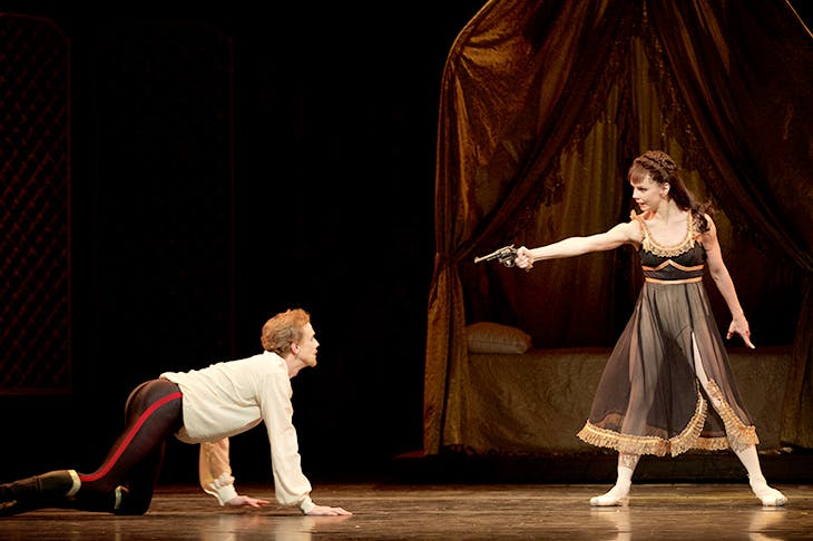 Edward Watson as Crown Prince Rudolf and Natalia Osipova at Mary Vetsera in Royal Ballet's Mayerling
