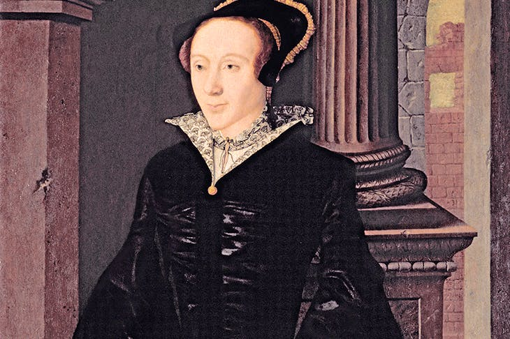 Portrait of a lady in black, thought to be Margaret Douglas, c.1545