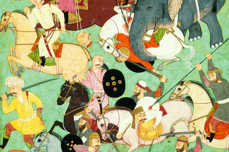 An early modern battle scene depicted in a Mughal miniature looks like a graceful pageant compared to today's nuclear and cyber warfare