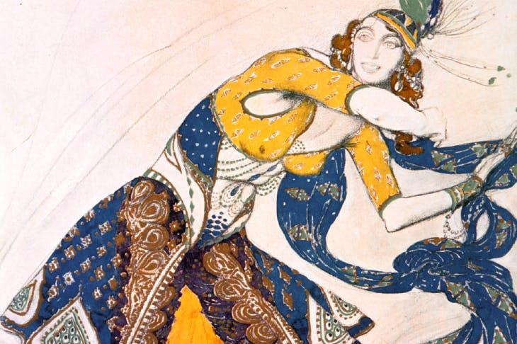 The Marchesa Casati as an Indian dancer by Leon Bakst (1912)