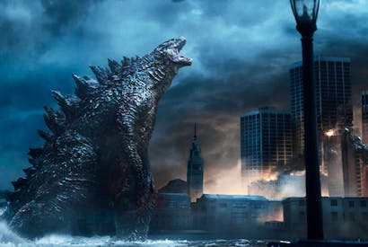 At 350ft tall, Godzilla would collapse under its own weight. But with two giant legs and a tiny body, it would be eminently feasible
