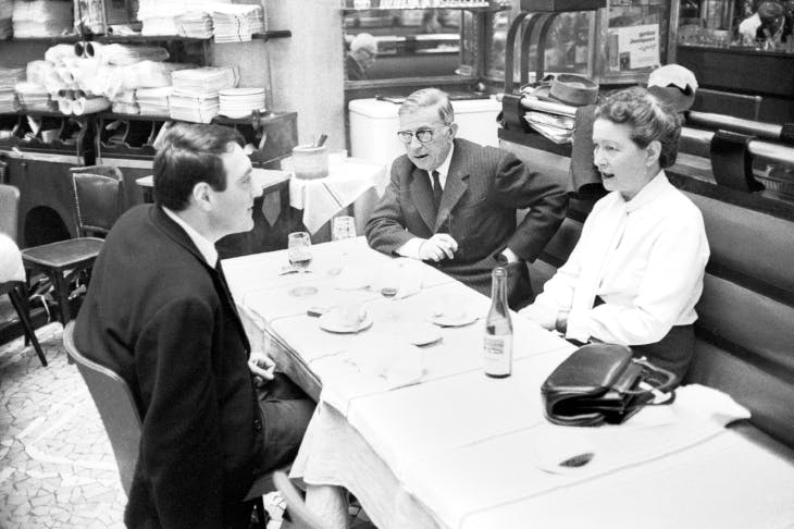 And then there were three: Lanzmann in 1964 with Jean-Paul Sartre and Simone de Beauvoir, with whom he had a seven-year affair