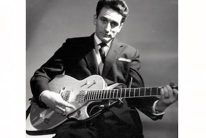 Putting the guitar centre stage: skiffle king Lonnie Donegan in 1962