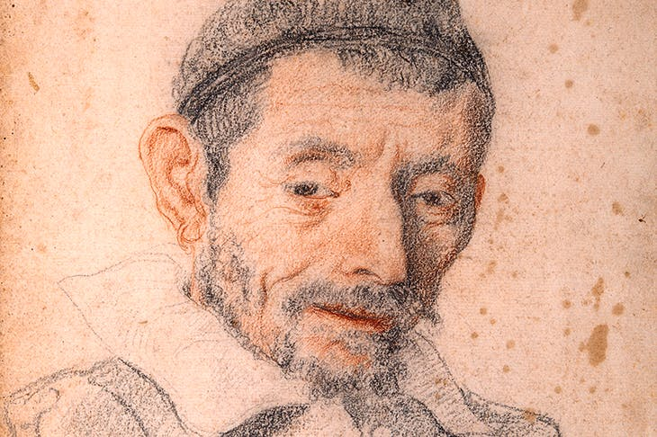 Carlo Dolci's red and black chalk study of his shoemaker, c. 1630