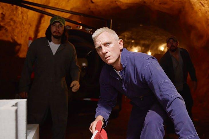 Going platinum: Daniel Craig as Joe Bang in Logan Lucky
