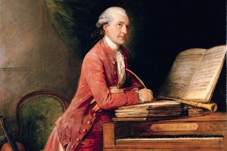 Gainsborough's portrait of his son-in-law, Johann Christian Fischer
