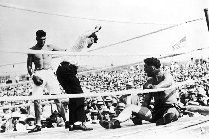 Originals: Jack Dempsey, left, in his 1919 title fight