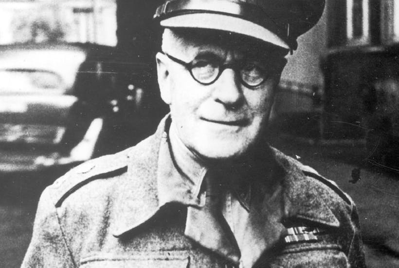 Master of the dark art of interrogation: Alexander Scotland in 1945