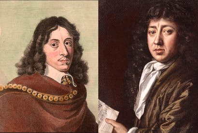 They shared a love of books, beekeeping, print-collecting, alchemy, geometry, music, astronomy and the English language: John Evelyn (left) and Samuel Pepys