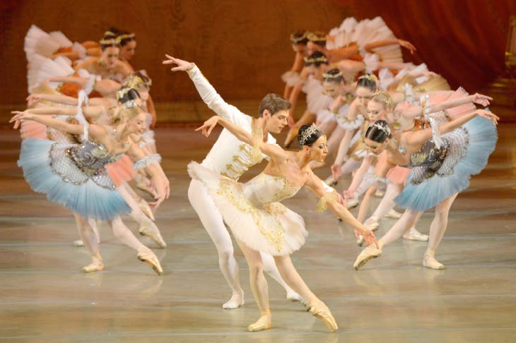 The glorious Grand Pas from Paquita, part of the Mariinsky's triple bill