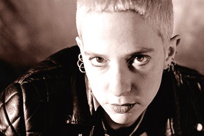 Kathy Acker in the late 1980s