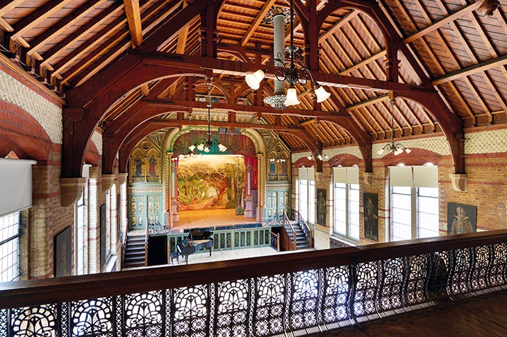 The Normansfield Theatre in Teddington, a beautiful 'lost' Victorian playhouse, is still used for concerts and music-hall evenings, and by small opera companies