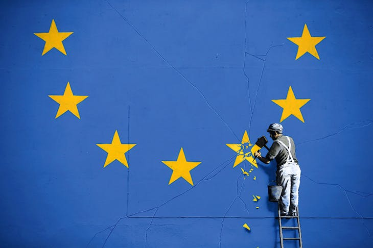 Star attraction: A detail from Banksy's mural