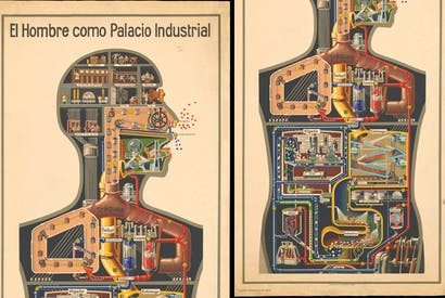 Man machine: Fritz Kahn's 'Der Mensch als Industrieplast', 1926,which shows the body not so much as a sacred temple as as a churning and industrious factory