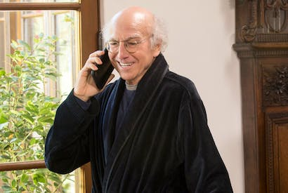 Divine comedy: even if Larry David is as big a prize twonk in real life as he is on Curb we can hardly begrudge him for it