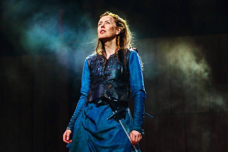 Killer queen: Gina McKee as Boudica. (Photo: Steve Tanner)