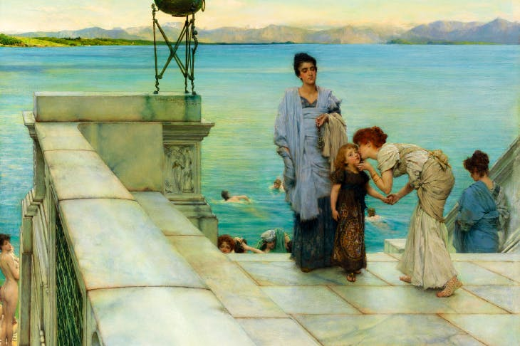 Still life: 'A Kiss', 1891, by Sir Lawrence Alma-Tadema