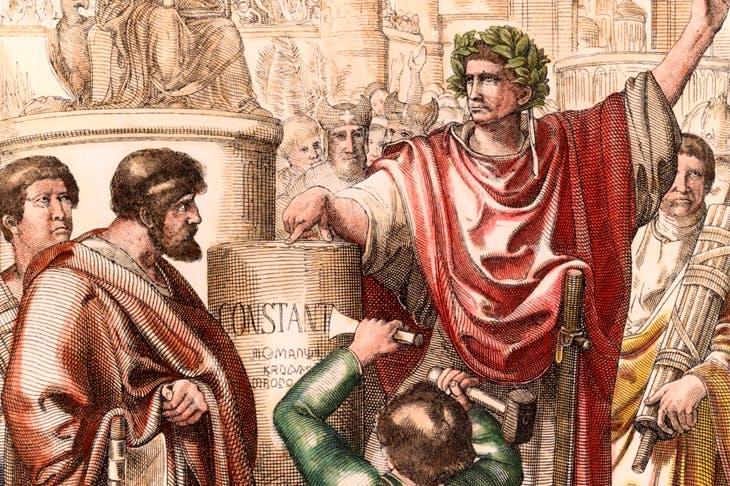 The Emperor Constantine renames Byzantium