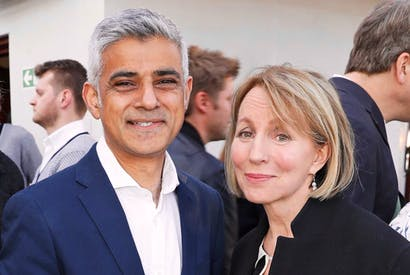 Sarah Sands with Mayor of London Sadiq Khan (Photo: Getty)