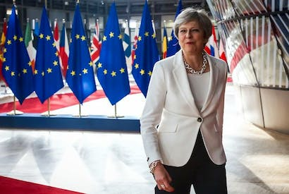 Prime Minister Theresa May at the summit of European Union (image: getty)