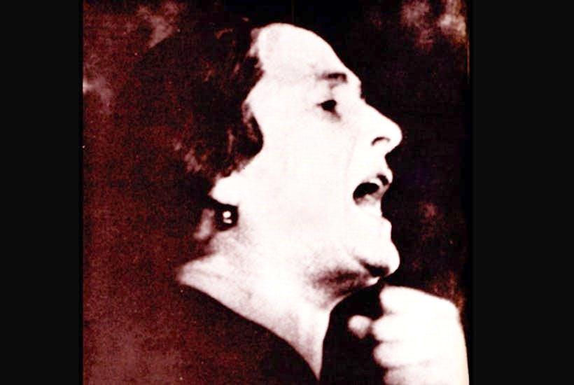 Isidora Dolores Ibárruri Gómez, known as 'La Pasionaria', insists: 'They shall not pass'