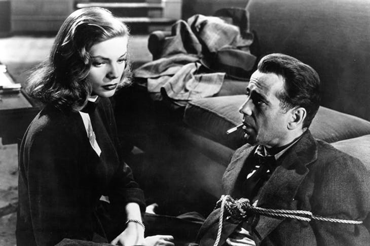 Bogart and Bacall in The Big Sleep
