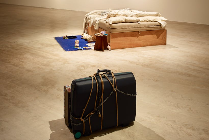 Choppy waters: installation view of Tracey Emin 'My Bed'/JMW Turner