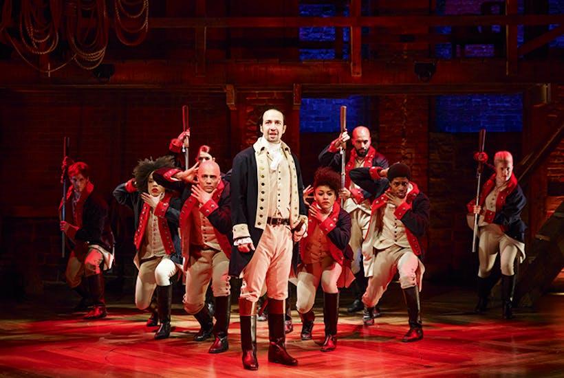 Making musical history: Lin-Manuel Miranda and the cast of Hamilton