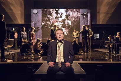 On the edge: Bryan Cranston as Howard Beale in Network