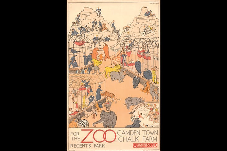 'Regent's Park Zoo', 1930, by Arnrid Banniza Johnston