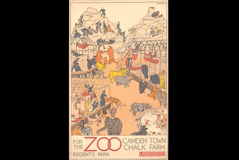 'Regent's Park Zoo', 1930, by Arnrid Banniza Johnston