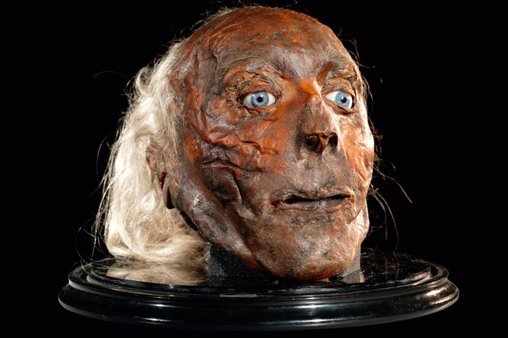 The head of Jeremy Bentham, who died in 1832