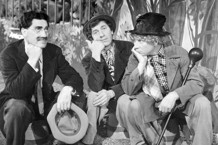 The Marx Brothers owed their vaudeville success to sharp wits, slapstick and a willingness to trade on the pervasive humour of ethnic stereotypes