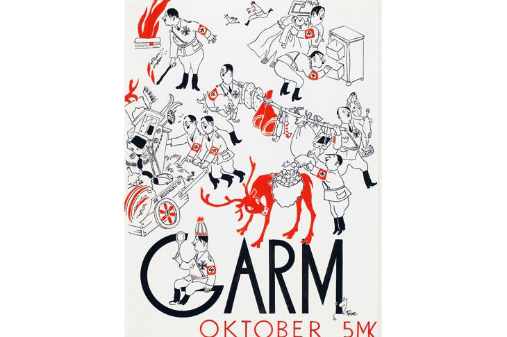 Cover illustration for the magazine Garm 1944, by Tove Jansson
