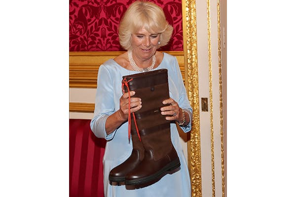 Irish chic: the Duchess of Cornwall with Dubarrys