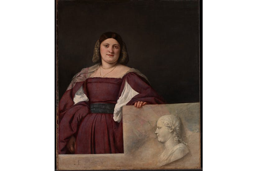 'Portrait of a Lady (La Schiavona)', c.1510-12, by Titian