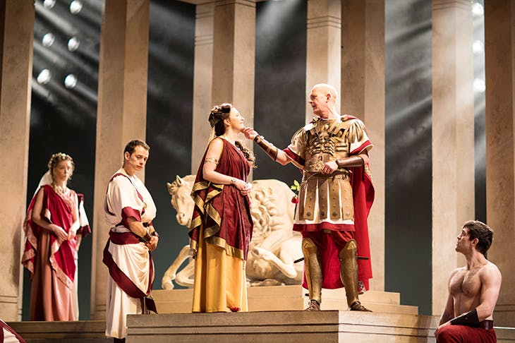 Togas, sandals, breastplates, ketchup and daggers, not guns: Julius Caesar at the Barbican