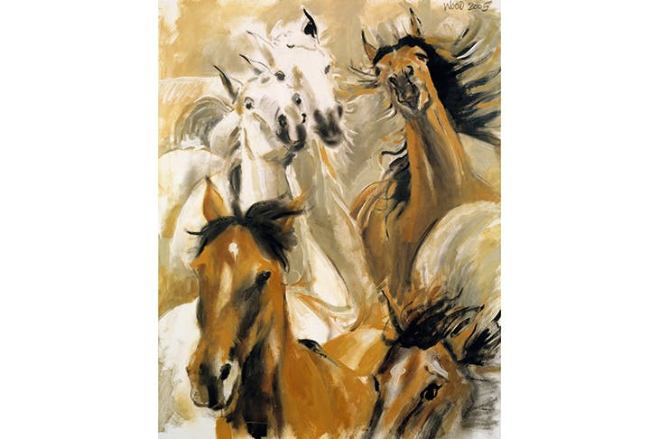 Ronnie Wood's 'Wild Horses' (2005), acrylic on canvas