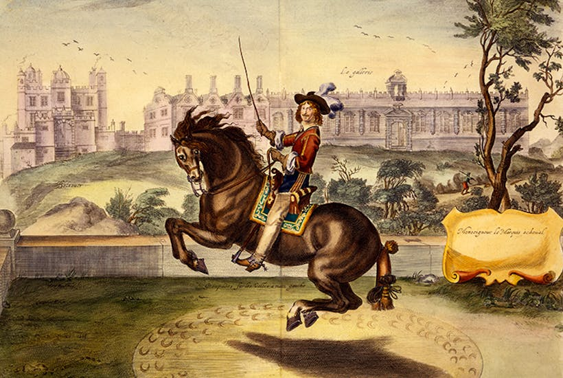 William Cavendish, 1st Duke of Newcastle, performing volte, with Bolsover Castle in the background. (Painting after Abraham Jansz. van Diepenbeeck). Bryant is particularly severe on the subject of racing and horse breeding