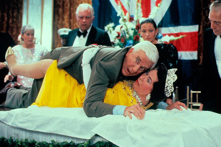 Leslie Nielsen and Jeannette Charles in The Naked Gun