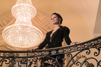 Bang her up! Jessica Chastain as Molly Bloom in Aaron Sorkin's Molly's Game