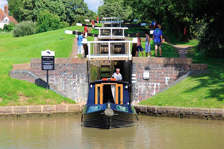 The Watford Locks on the Grand Union Canal