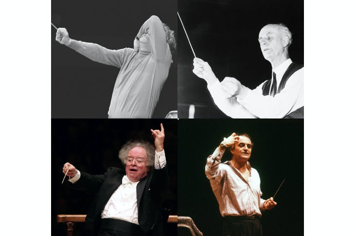 Conduct unbecoming: clockwise from top left, Leonard Bernstein, Wilhelm Furtwängler, Charles Dutoit and James Levine