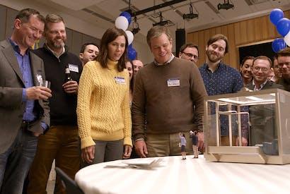 The miniaturists: Kristen Wiig and Matt Damon in Downsizing